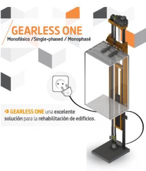 Elevador Gearless One modelo digital